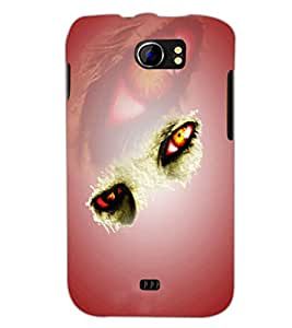 PrintDhaba Feary Eyes D-5019 Back Case Cover for MICROMAX A110Q CANVAS 2 PLUS (Multi-Coloured)