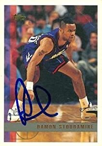 Damon Stoudamire Autographed Hand Signed Basketball Card (Toronto Raptors) 1997 Topps... by Hall of Fame Memorabilia