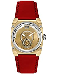 Savoy Swiss Made Icon Petite Gold Red Dial Female Watch -C330312AL4