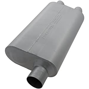 Flowmaster 9425512 50 Delta Flow Muffler - 2.50 Offset IN / 2.00 Dual OUT - Moderate Sound