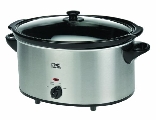 Kalorik Oval Slow Cooker, Stainless Steel, 6-Qt. front-190167
