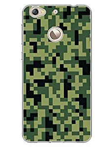 Camouflage - Pixels - Cyber Warfare - Hard Back Case Cover for LetV 1S - Superior Matte Finish - HD Printed Cases and Covers