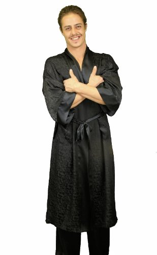 Men's 100% Silk Long Robe