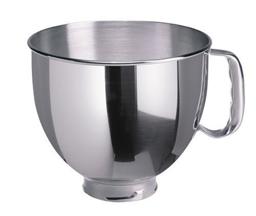KitchenAid K5THSBP Tilt-Head Mixer Bowl with Handle, Polished Stainless Steel, Polished Stainless Steel, 5-Quart (Bowl 5qt Kitchenaid compare prices)