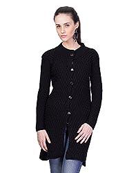 Montrex Black Designer Long Coat For Women