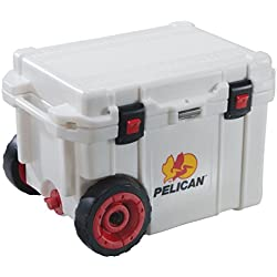 Pelican Products ProGear Elite Wheeled Cooler, White, 45 quart