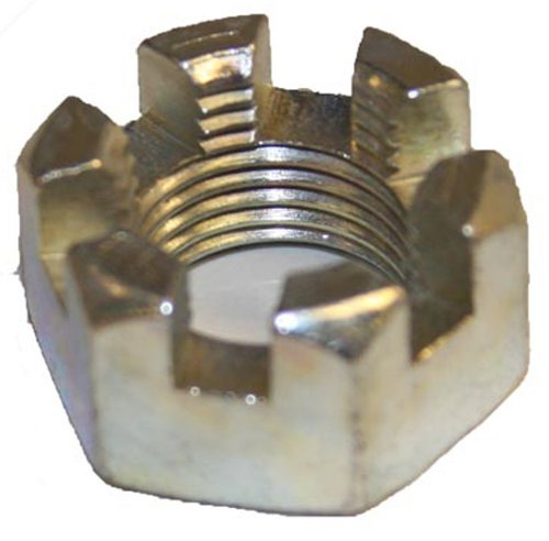 "Ezgo Oem 1976-Up Gas And Electric Golf Cart Rear Brake/Axle Slotted Hex Nut ""Castle"" Nut - #612928"