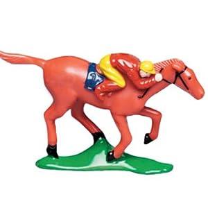 Horse Racing Cake Topper Figure