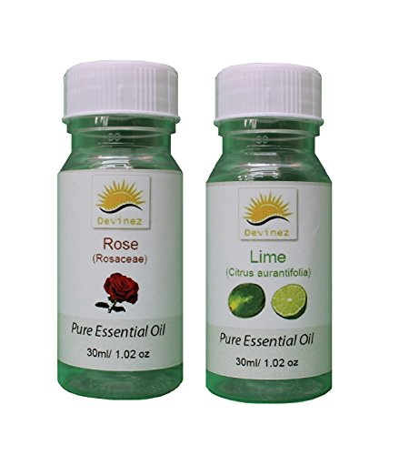 Devinez Aroma Lime And Rose Essential Oil For Diffusers, 30ml (Pack Of 2)