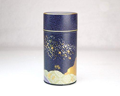 Ryu Mei Rakuyu Japanese Tea Canister Blue