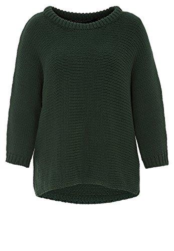 Hallhuber Pullover in Kastenform kurz, kastenförmig, 3/4-Ärmel grün, S