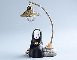 Japanese Kaonashi No Face LED Night Light Figure Studio Ghibli Miyazaki Hayao Spirited Away Anime Resin Action Figuras Christmas (set A)
