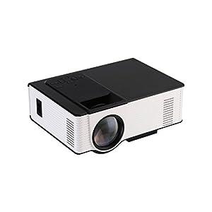 HD1080P Home Theater Projector 3000Lumens 3D LED AV/USB/VGA/SD(White)