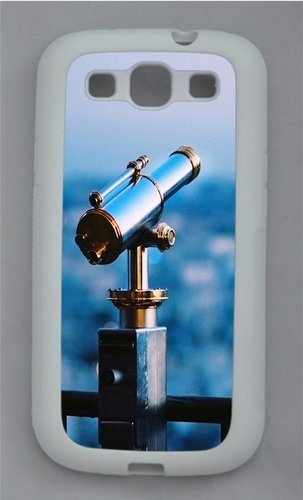 Astronomical Telescope Tpu Silicone Rubber Case Cover For Samsung Galaxy S3 Siii I9300 White
