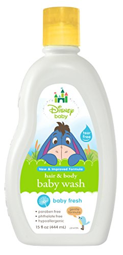 Disney Baby Winnie The Pooh Powder Fresh Baby Wash, 15 Fluid Ounce (Pack of 6) - 1