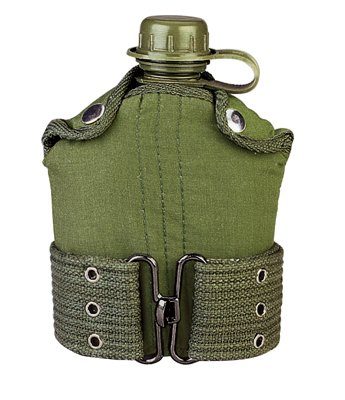 Rothco G.I. Type Plastic Canteen And Pistol Belt Kit, Olive, O/S