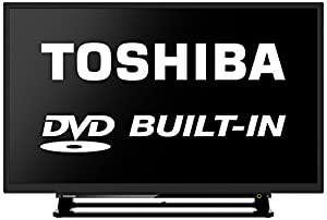 Toshiba 32D1533 32-Inch Widescreen HD LED TV with Built-In DVD Player and Freeview