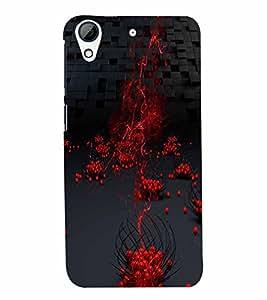 PrintVisa Modern Art Cherries Blocks 3D Hard Polycarbonate Designer Back Case Cover for HTC Desire 626