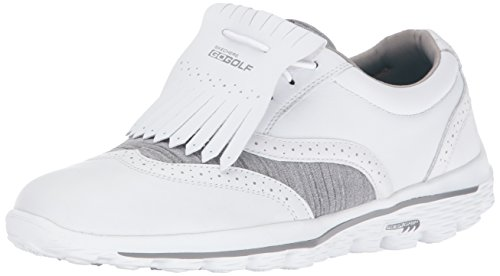 Skechers Performance Women's Go Golf Kiltie 2.0 Walking Shoe, White/Gray, 8.5 M US