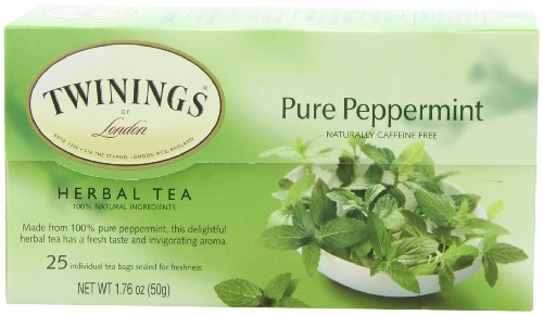 Twinings Pure Peppermint Tea, 25-Count (Pack of 6)