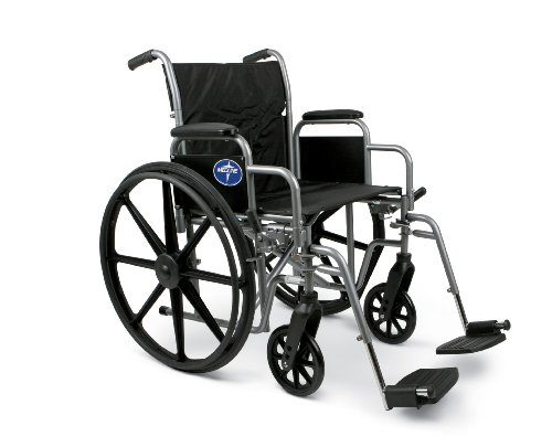 Medline K1 Basic Elevating Wheelchairs, RDLA, 18 Inch