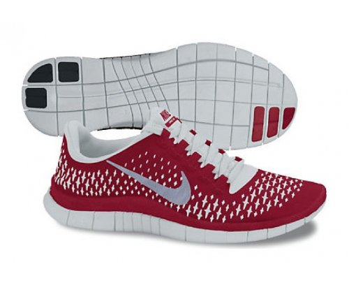 Nike Nike Free 3.0 V4 Mens Running Shoes 511457-600 Gym Red 10.5 M US
