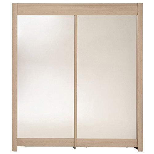 Armoire 2 portes - Chêne - Phénix - l 180 x P 60 x H 210 cm