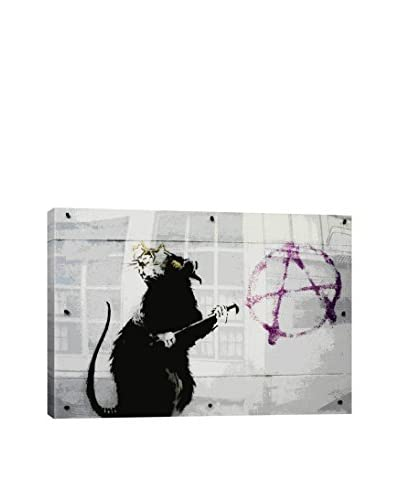 Banksy Anarchy Rat Gallery Wrapped Canvas Print