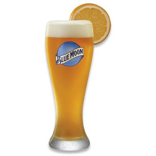Blue Moon 16 Oz Pilsner Beer Glass Set of 2. Durable, High quality Pint glasses from Blue Moon brewing company.