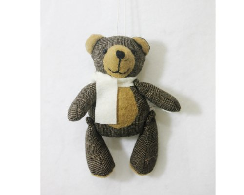 St. Nicholas Square Winter Cabin Bear Ornament