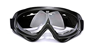 Multisport Glasses/ Riding Glasses Black Frame Transparent Lens