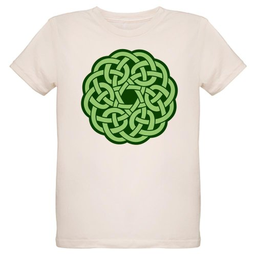 Artsmith, Inc. Organic Kids T-Shirt Celtic Knot Wreath - Large (12 Yrs)