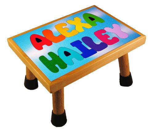 Cheap KidPuzzles Name Puzzle Stool Two Name Wood Puzzle ALL CAPS Blue Day Sky (B00564HSNC)