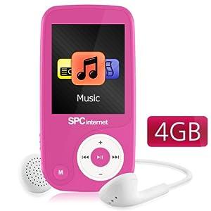 Spcinternet 8314P - Reproductor de MP4, (4 GB de capacidad), video, radio FM, pantalla 1.8 pulgadas, color rosa