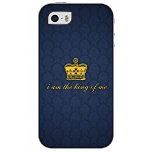 OUO Snap on Case Iphone 5 5s with Design of Life Quote and Crown
