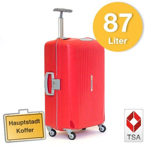 Hartschalen Koffer Rot/Grau Matt max.87 Liter