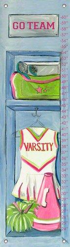 Oopsy Daisy Girl's Cheerleading Locker by Jones Segarra Growth Charts, 12 by 42-Inch