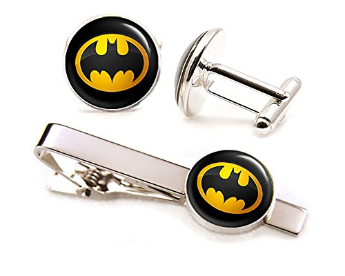 Batman-Cufflinks-Batman-Jewelry-Batman-Cuff-Links-Link-Justice-League-Wedding-Party-Gift-Avengers-Groomsmen-Gifts