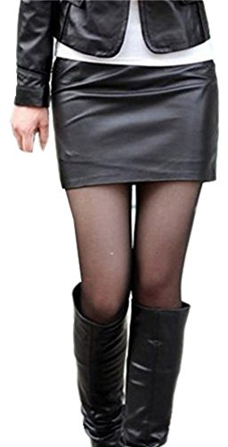 Elasticity Waist Band Classic Leather Mini Bodycon Skirt. These skirt were very popular in the 80s, and this is a nice alternative to a tutu.