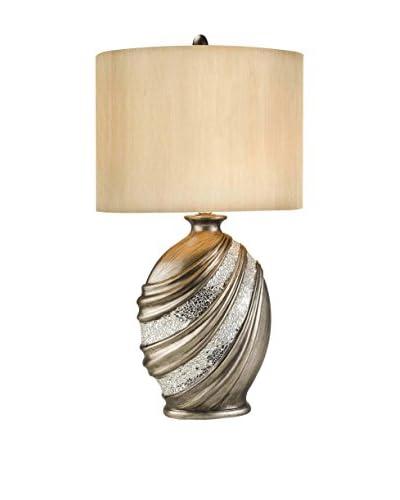 ORE International Decorative Table Lamp, Silver