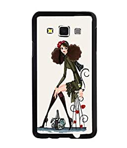 PrintDhaba Nice Girl Back Case Cover for SAMSUNG GALAXY A3 - D3790