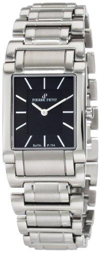 Pierre Petit P-794A - Reloj analógico de cuarzo para mujer con correa de acero inoxidable, color plateado