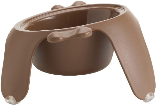 Petego Yoga Pet Bowl, Medium, Brown
