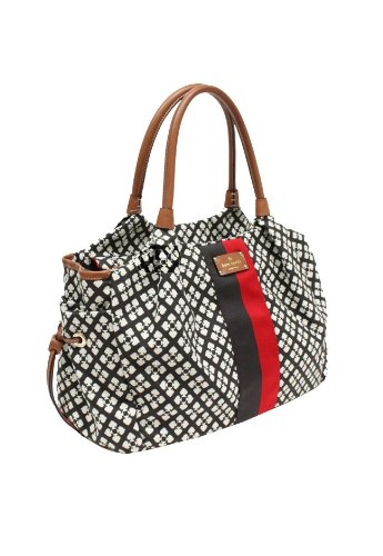 Kate Spade Stevie Baby Diaper Bag Classic Spade Chocolate Wkru1467 Brand New With Tag Msrp $395 front-740616