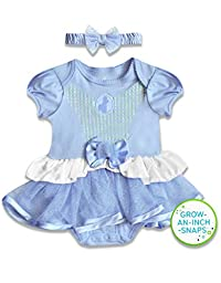 Disney Baby Baby-Girls Infant Cinderella Dress with Headband, Blue, 6 Months