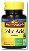 Nature Made Folic Acid 400mcg, 250 Tablets