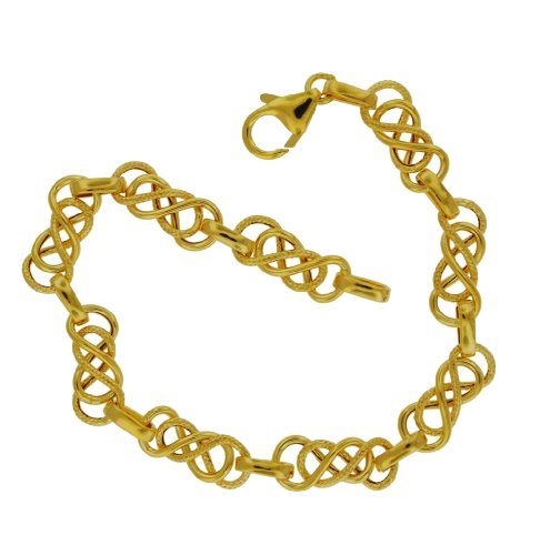 9ct Yellow Gold Fancy Celtic Bracelet 19cm