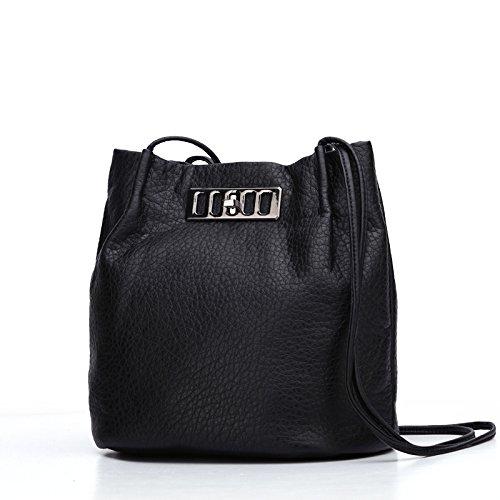 GQQ NUOVE borse a tracolla borse moda PU Dacron per Shopping Party e sul posto di lavoro fino a 4 L GQ borsa @ , black