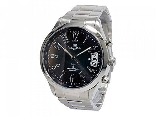 [ドルチェ・メディオ] DOLCE MEDIO 腕時計 電波ソーラー  DM12202-BK メンズ