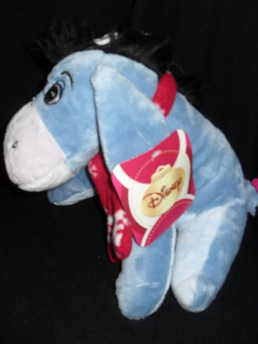 "Disney Eeyore Plush With Winter Scarf - 11"" - 1"
